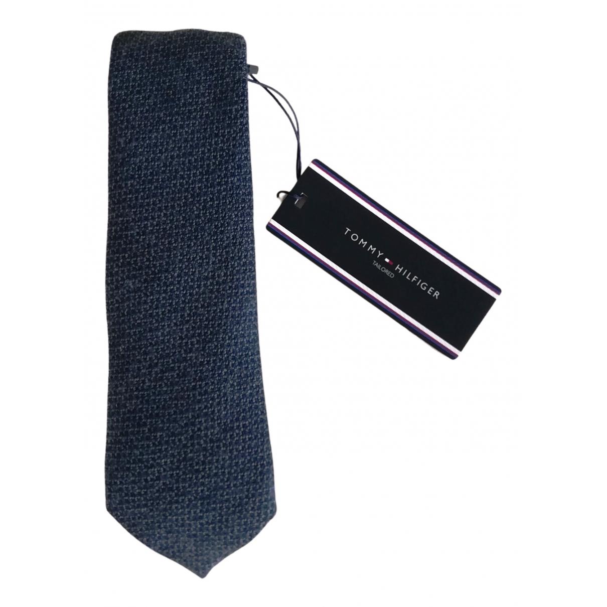 Tommy Hilfiger \N Krawatten in  Blau Wolle