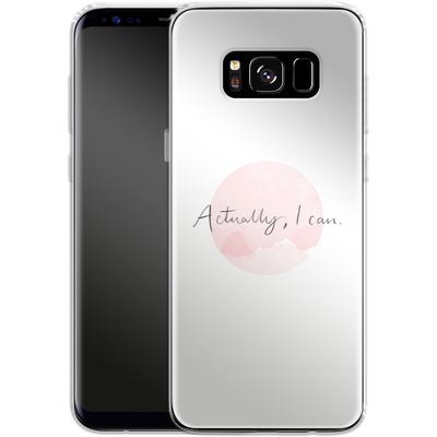 Samsung Galaxy S8 Silikon Handyhuelle - Actually, I can von caseable Designs