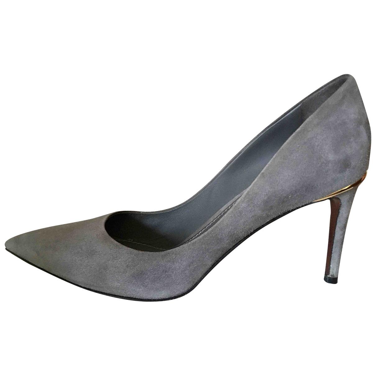 Louis Vuitton \N Grey Suede Heels for Women 37.5 EU