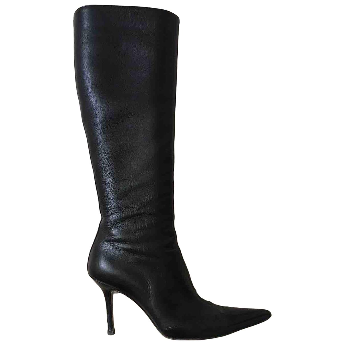 Dolce & Gabbana \N Black Leather Boots for Women 36 EU