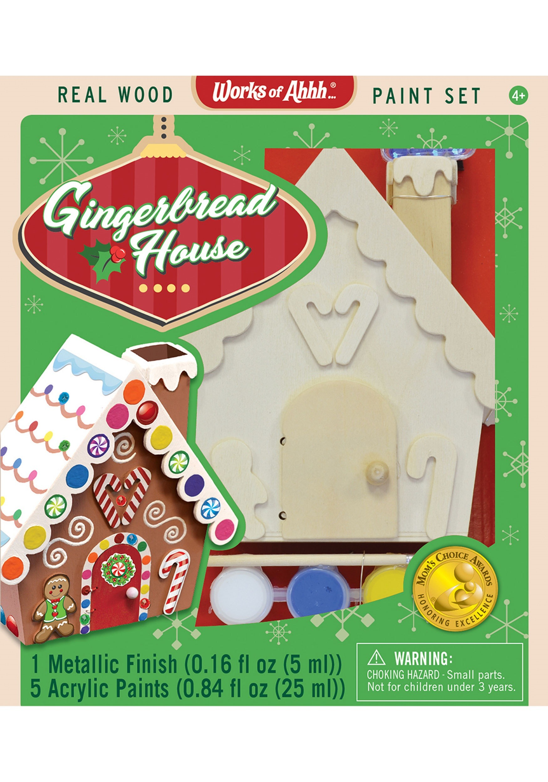 Works of Ahhh Gingerbread House Paint Set