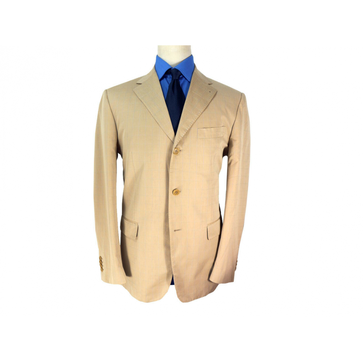 Brooksfield - Vestes.Blousons   pour homme en coton - beige