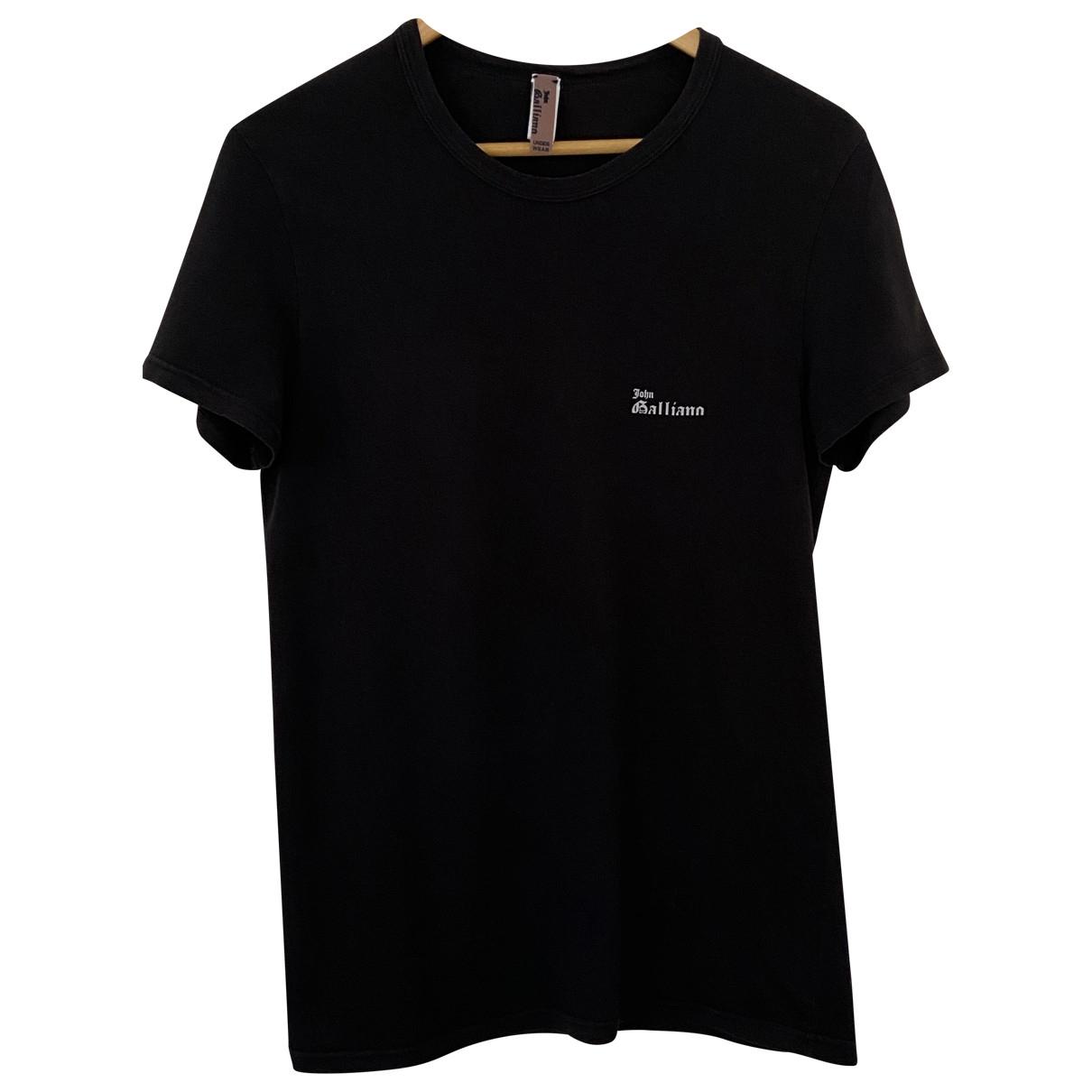 John Galliano \N Black Cotton T-shirts for Men M International