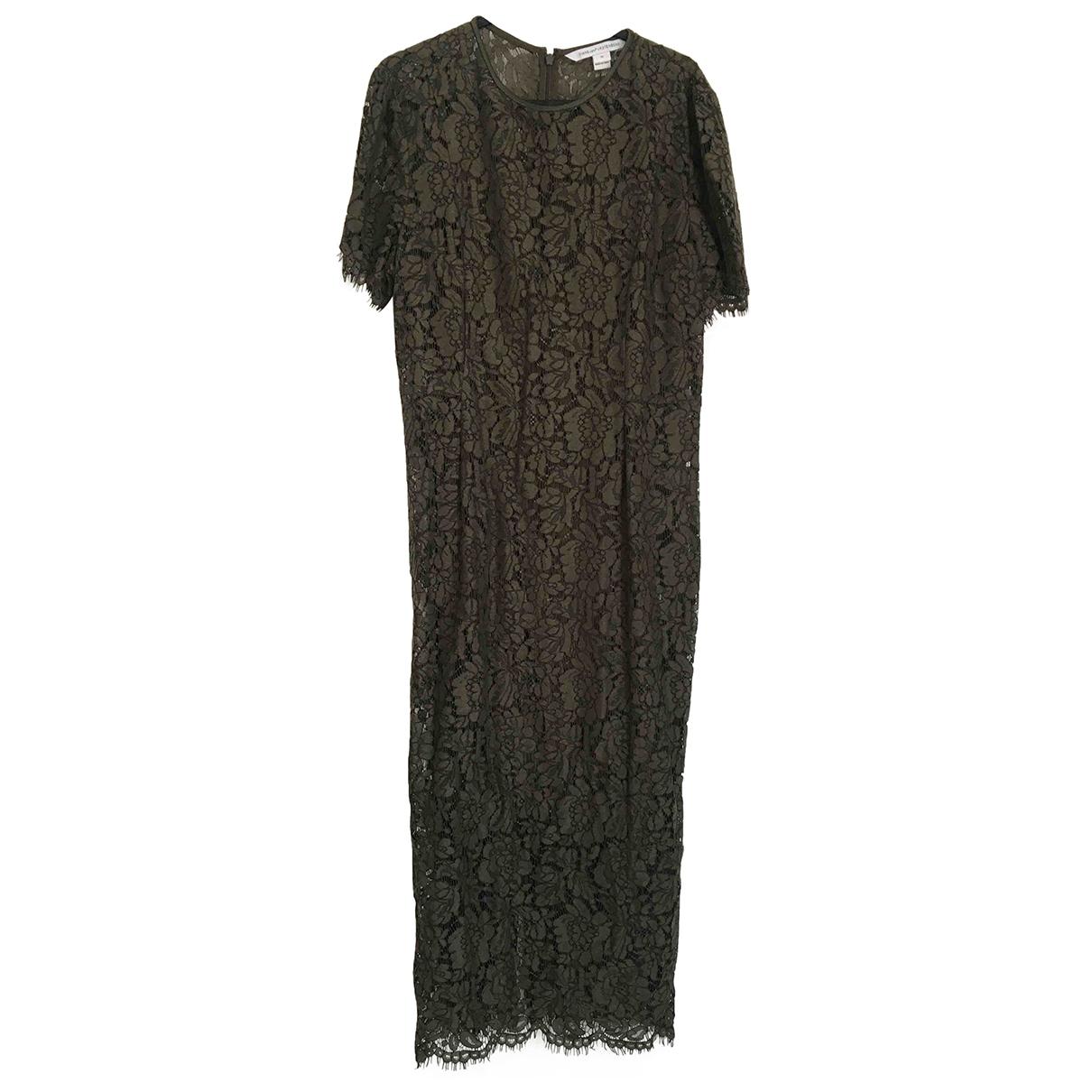 Diane Von Furstenberg \N Kleid in  Gruen Spitze
