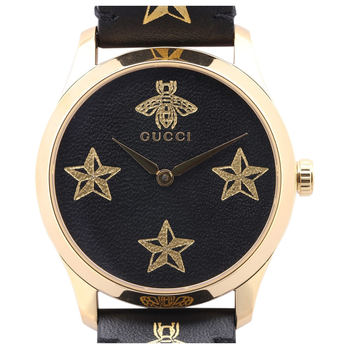 Gucci G-Timeless Gold plated watch for Men N
