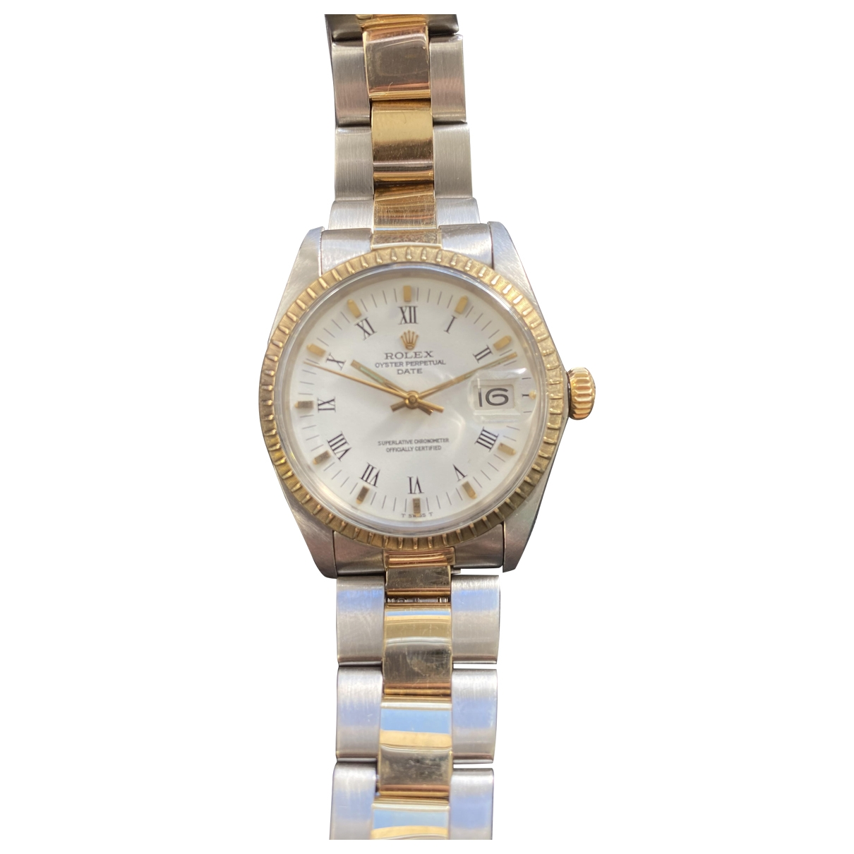 Rolex Oyster Perpetual 34mm Uhr in  Gold Gold und Stahl