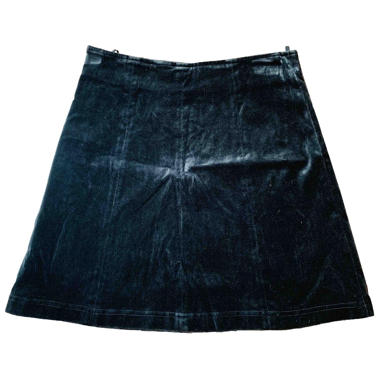 Armani Jeans \N Black Cotton - elasthane skirt for Women 38 FR