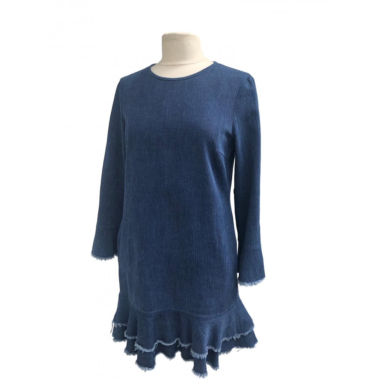 Non Signe / Unsigned Hippie Chic Kleid in  Blau Baumwolle - Elasthan