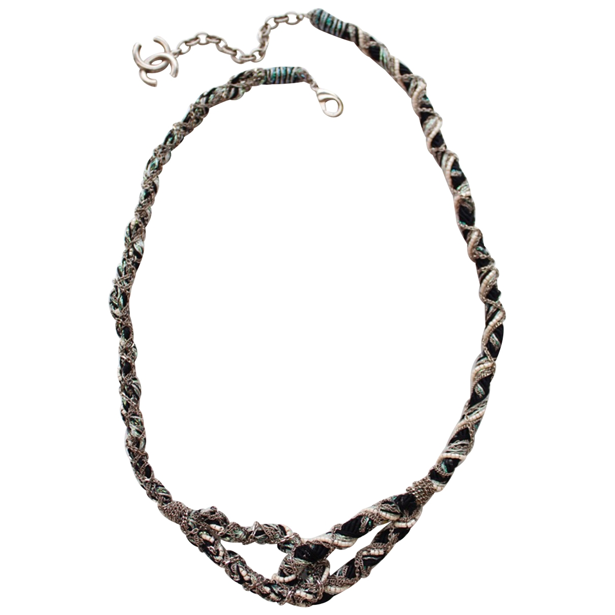 Chanel Baroque Silver Cloth necklace for Women \N