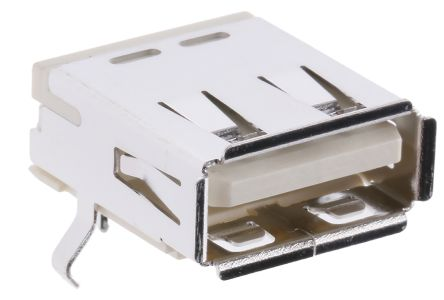 Molex USB Connector, Through Hole, Socket A, Solder, Right Angle- Single Port