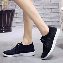 Zapatillas Deportivas Liso Negro comodo