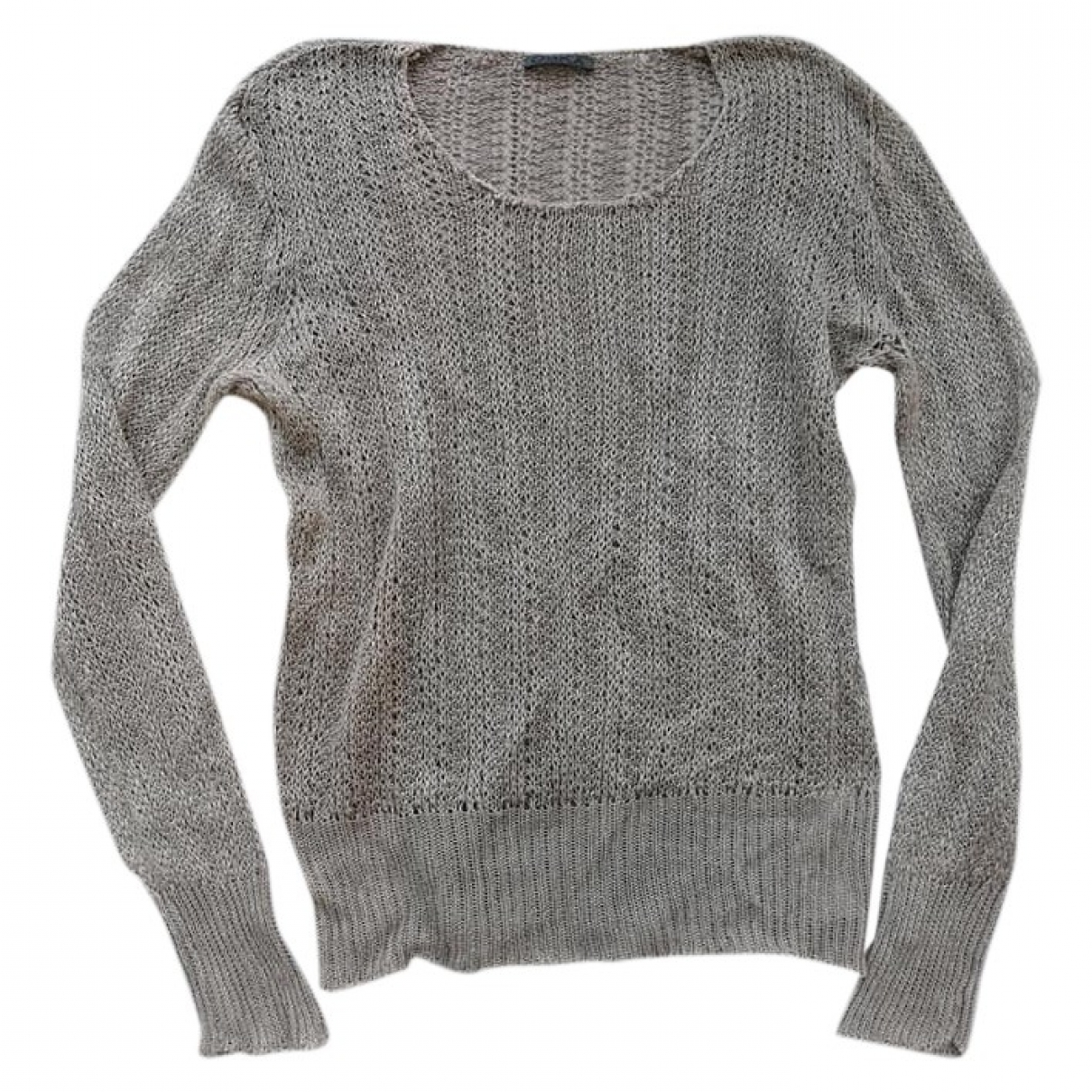 Non Signé / Unsigned \N Grey Linen Knitwear for Women 3 0-5