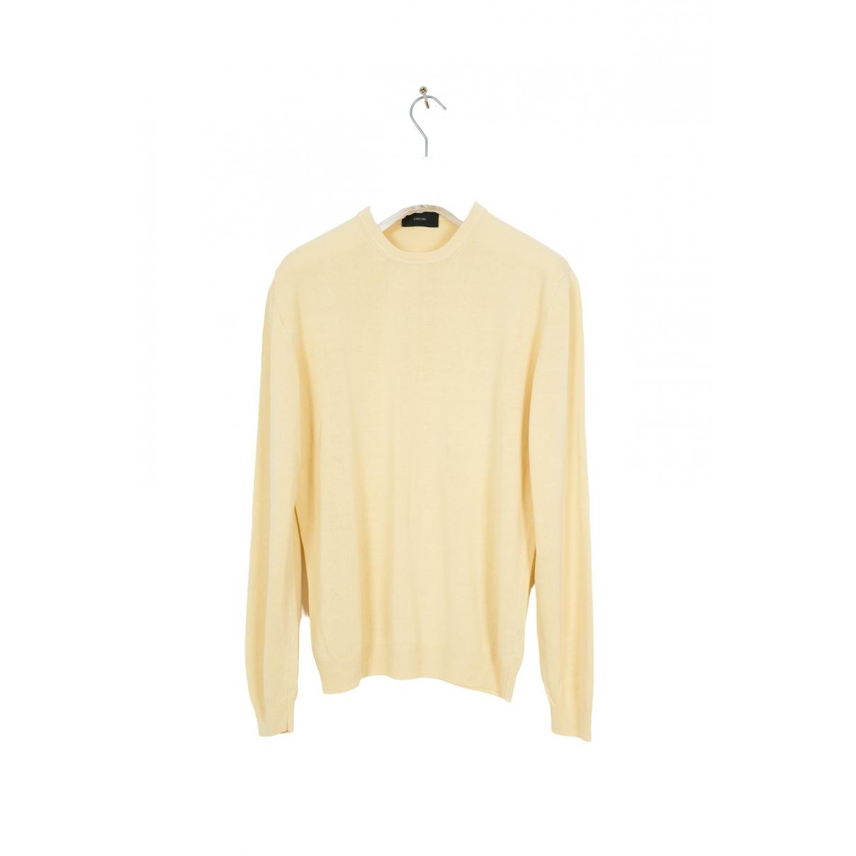Zanone \N Pullover.Westen.Sweatshirts  in  Gelb Baumwolle