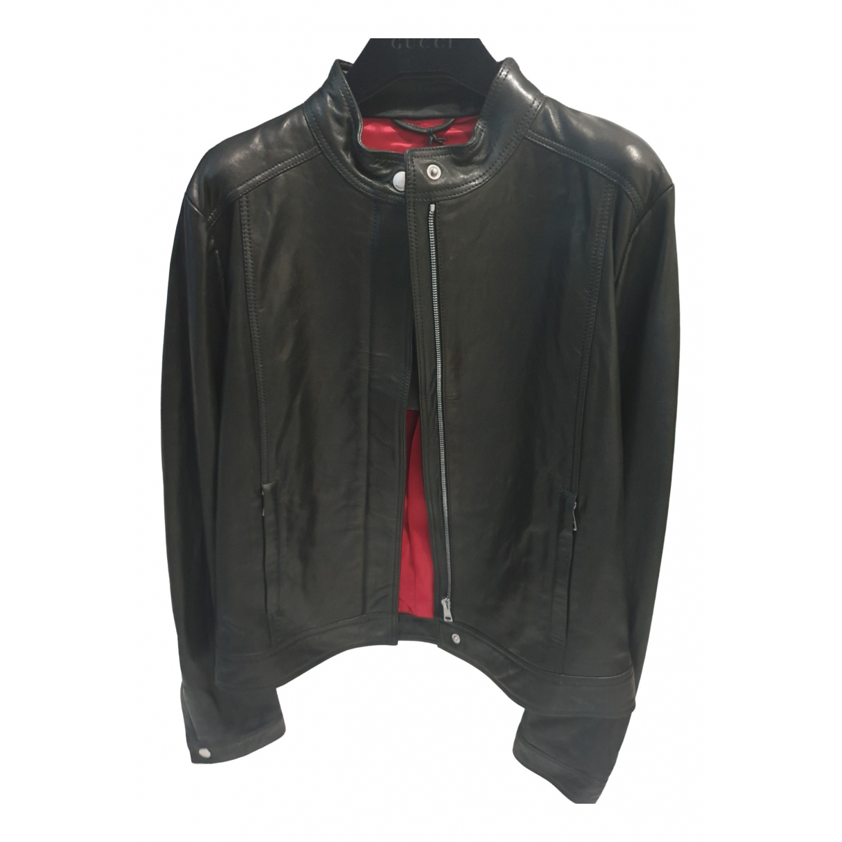 Balenciaga \N Black Leather jacket for Women 44 FR