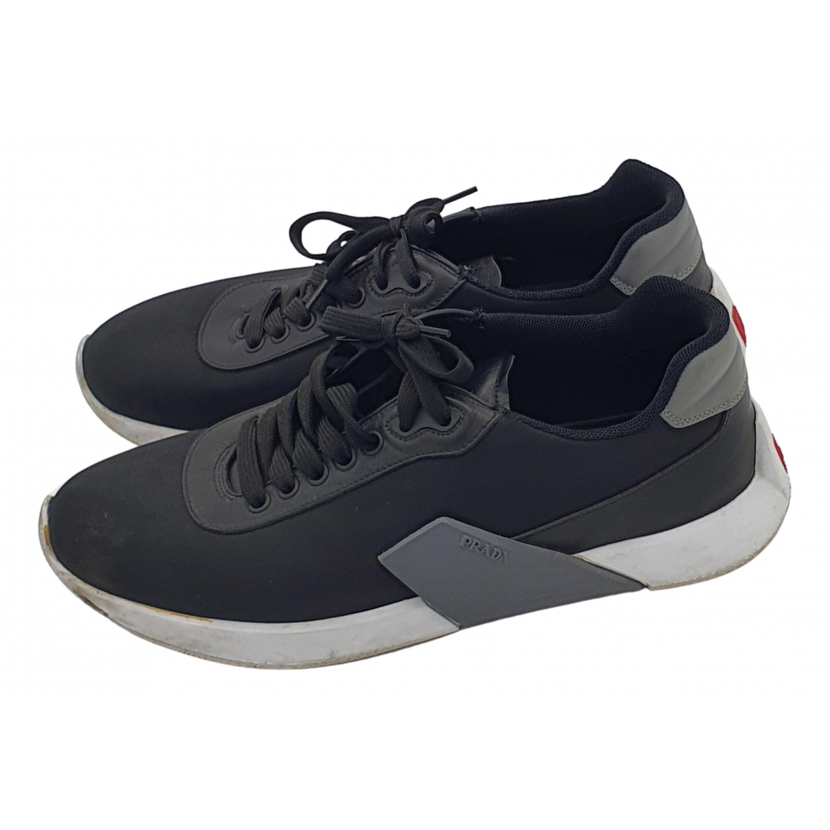 Prada \N Sneakers in  Blau Leinen