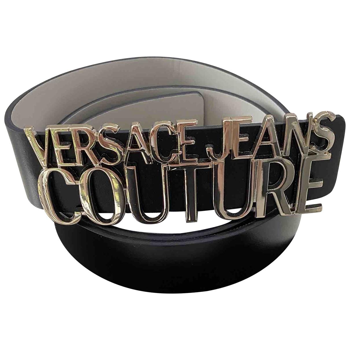 Versace Jeans \N Black Leather belt for Women 80 cm