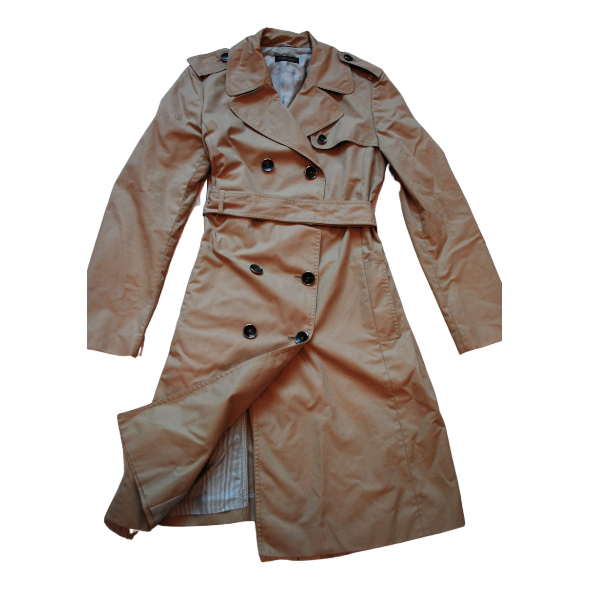 Strenesse \N Beige Cotton coat for Women 40 FR