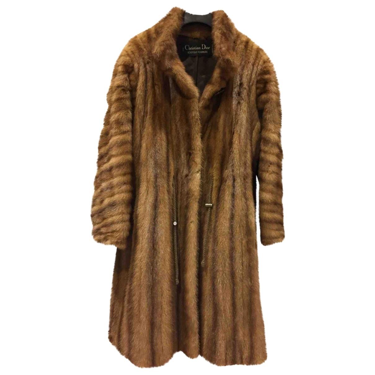 Dior - Manteau   pour femme en vison - camel