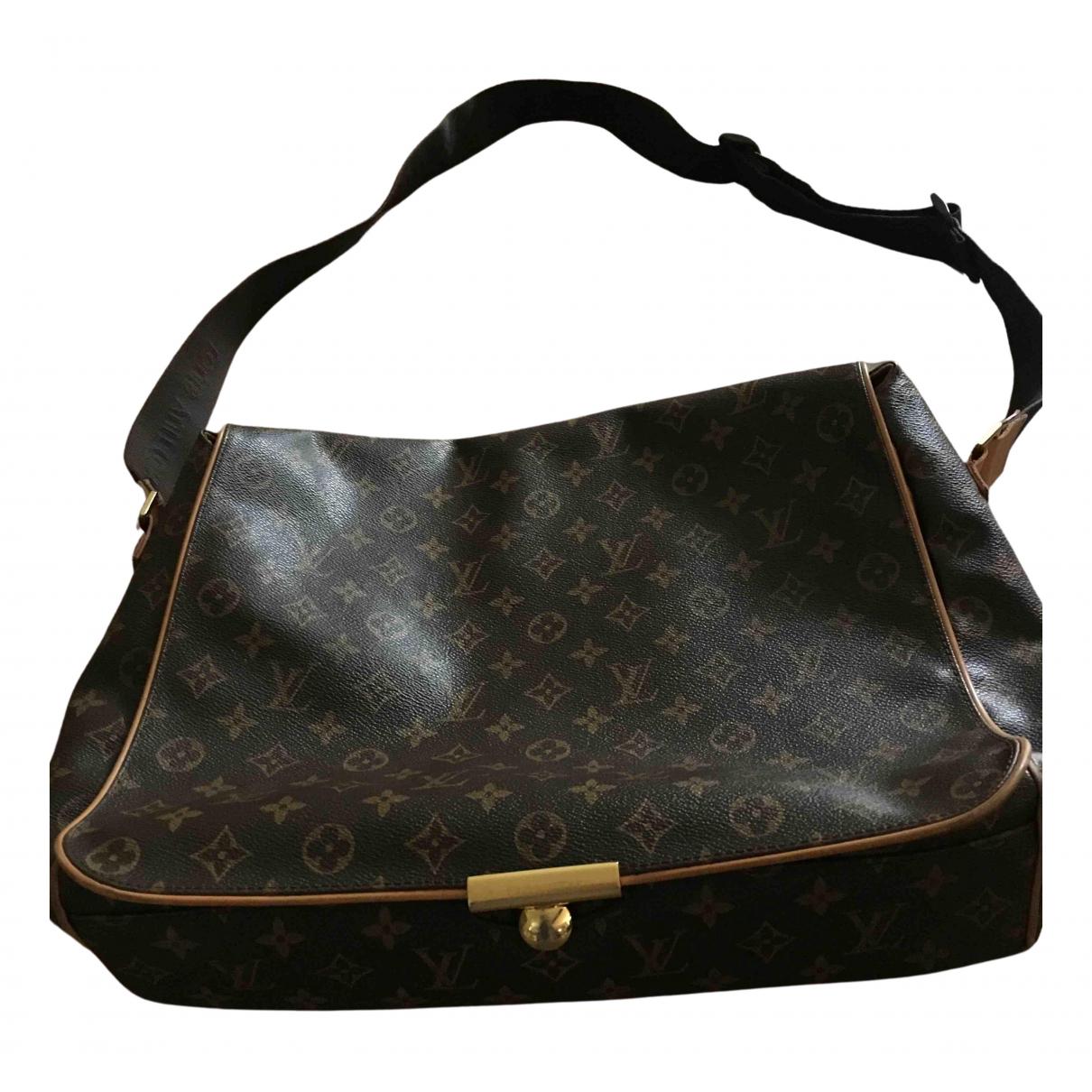 Louis Vuitton Abbesses Messenger Taschen in  Braun Leinen