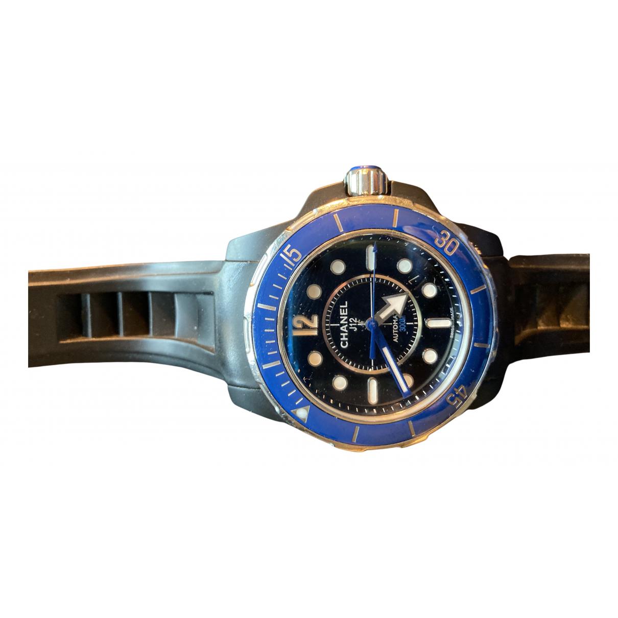 Chanel - Montre J12  Marine pour homme en ceramique - bleu