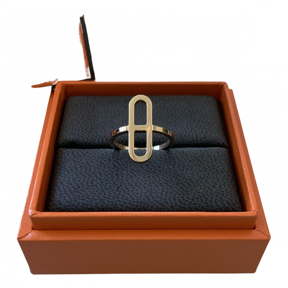 Hermes Chaine dAncre Ring in  Gold Rosegold