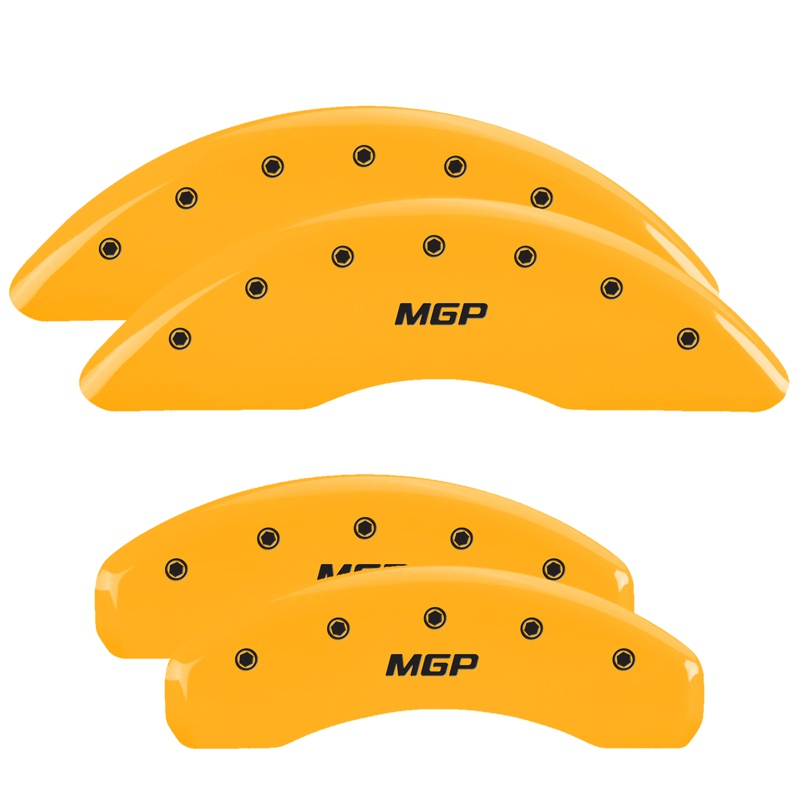 MGP Caliper Covers 32002SMGPYL Set of 4: Yellow finish, Black MGP / MGP Chrysler Pacifica 2004-2008