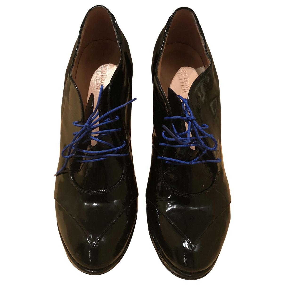 Jean Paul Gaultier - Boots   pour femme en cuir verni - noir