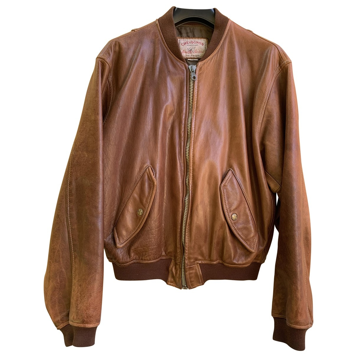 Chevignon \N Brown Leather jacket  for Men M International