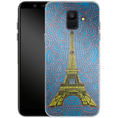 Samsung Galaxy A6 Silikon Handyhuelle - Eiffel Tower von Kaitlyn Parker