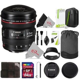 Canon EF 8-15mm f/4L Fisheye USM Lens (Lens Bundle)