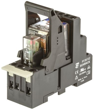 TE Connectivity , 24V dc Coil Non-Latching Relay DPDT, 12A Switching Current DIN Rail, 2 Pole
