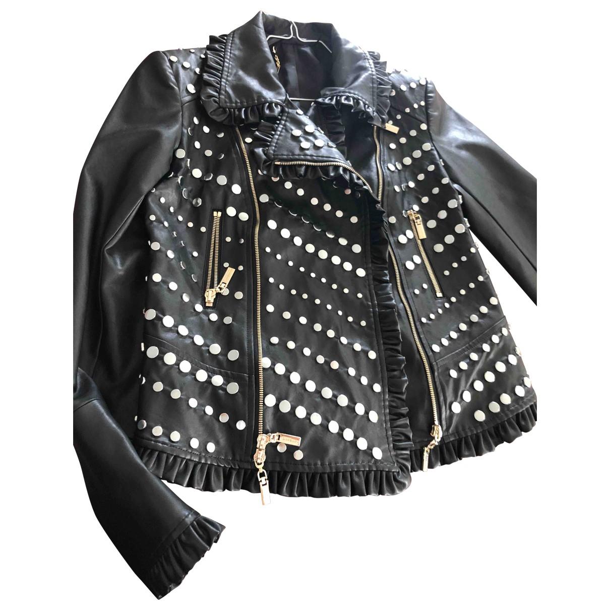 Mango \N Black Leather jacket for Women 40 FR