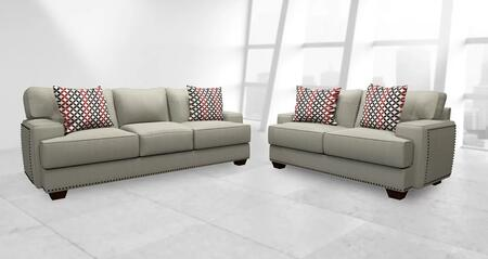 Heidi Collection GDN-CA-01 2 PC Living Room Set with Sofa + Loveseat in Beiged