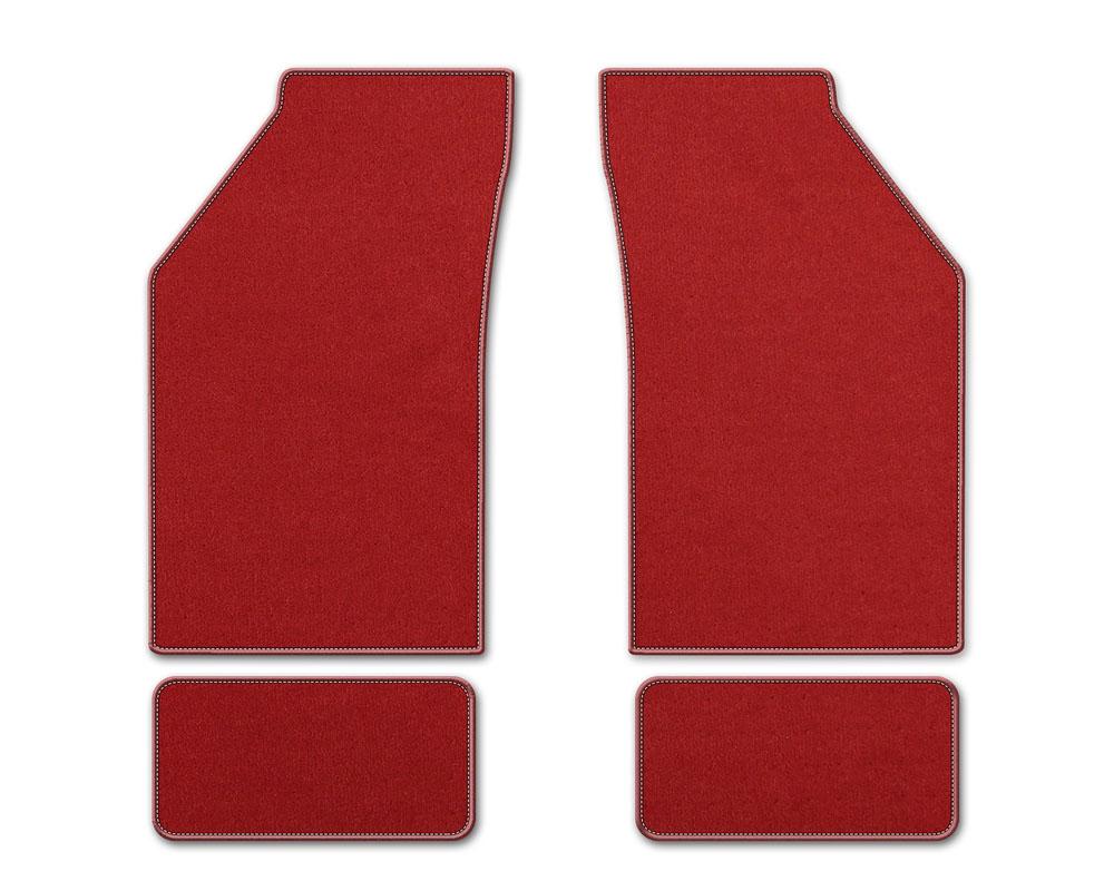 Coverking DFMBM7AC7101B1 Premium Plush Designer Floor Mats Style B Red Front Center Acura TL 2004-2008