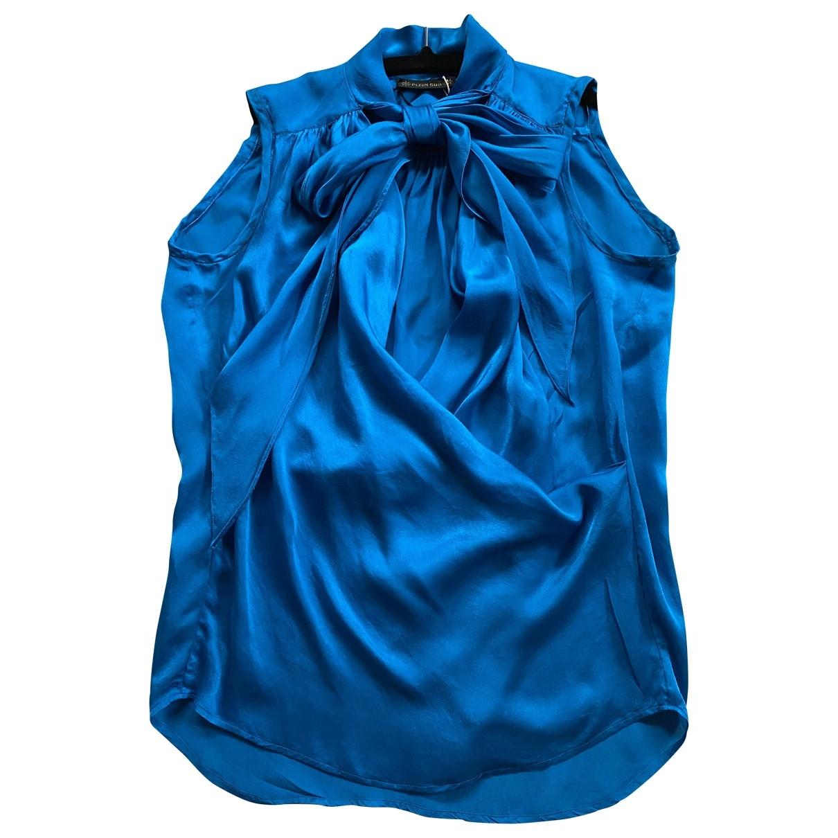 Plein Sud \N Blue Silk  top for Women 36 FR