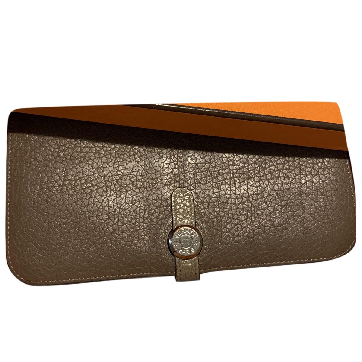 Hermès Dogon Khaki Leather wallet for Women N