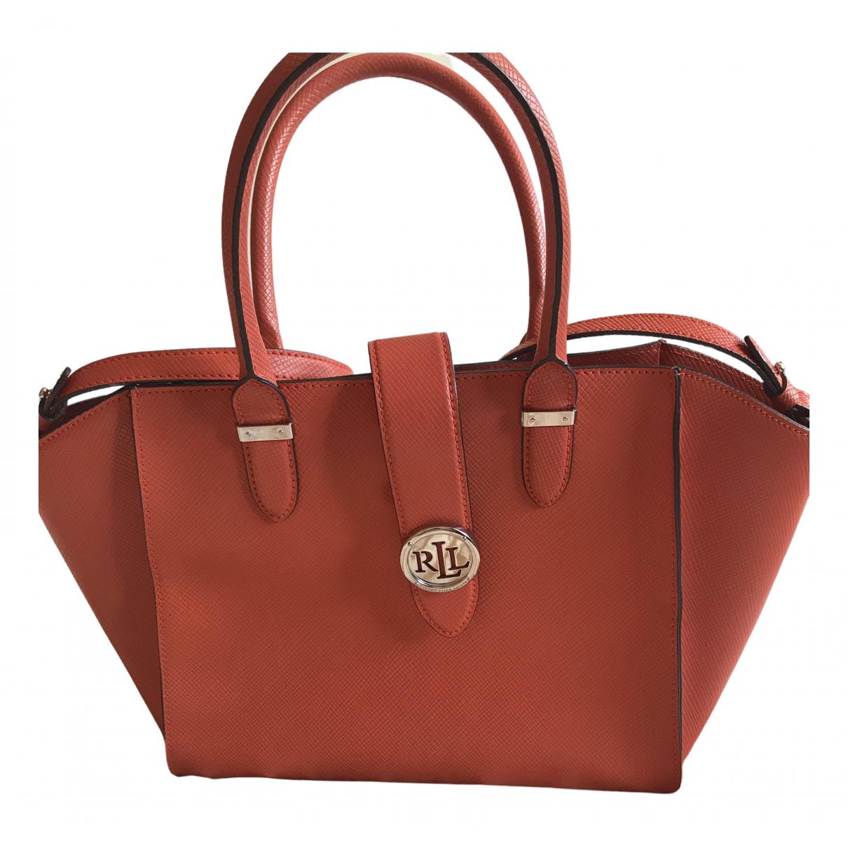 Lauren Ralph Lauren \N Orange Leather handbag for Women \N