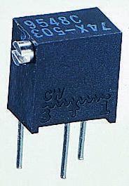 Vishay 50kΩ, Through Hole Trimmer Potentiometer 0.25W Side Adjust , T63