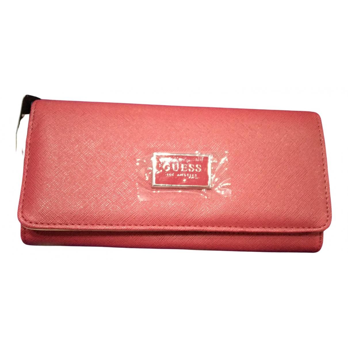 Guess - Portefeuille   pour femme en autre - rouge
