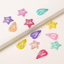 12 Stuecke Haarklammer mit Stern Design