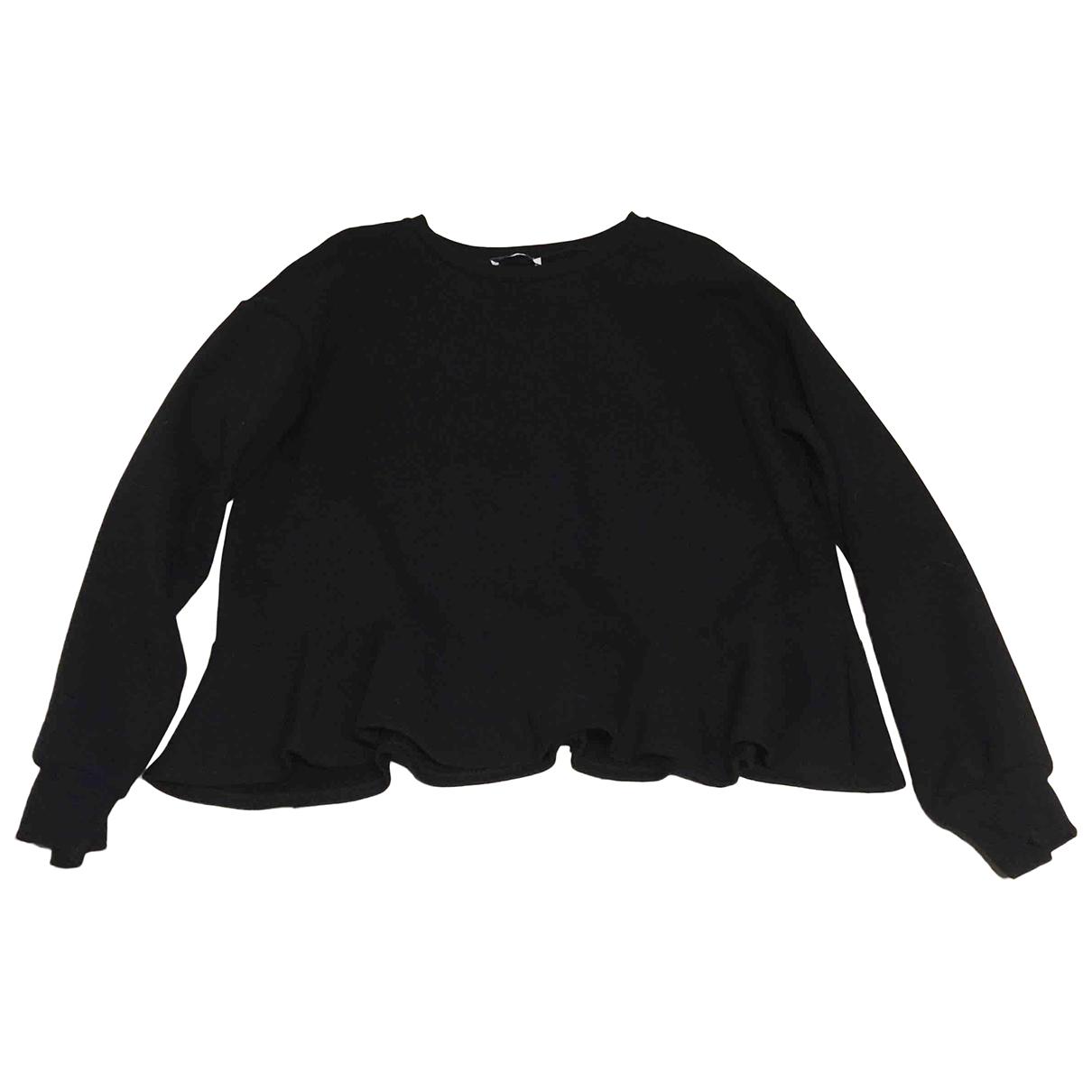Zara \N Pullover in  Schwarz Baumwolle
