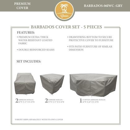 BARBADOS-06lWC-GRY Protective Cover Set  for BARBADOS-06l in
