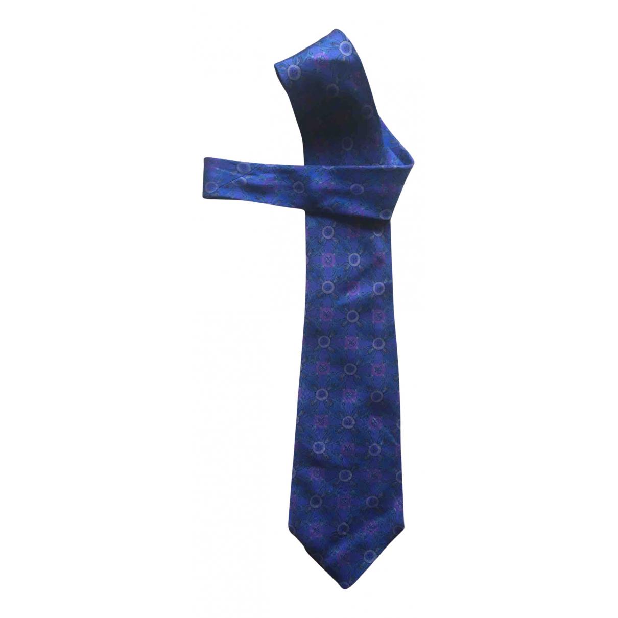 Gianni Versace \N Krawatten in  Blau Seide