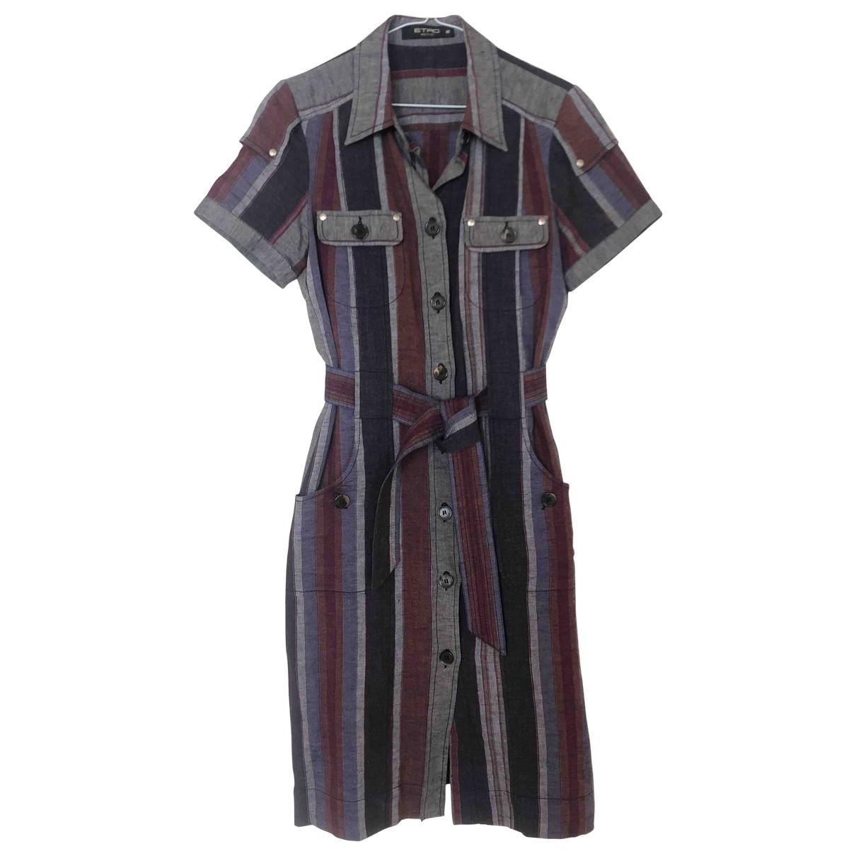 Etro - Robe   pour femme en lin - multicolore