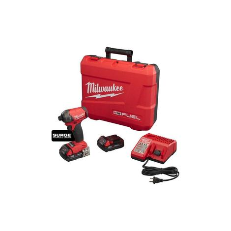 Milwaukee M18 Fuel™ Surge™ 1/4 in. Hex Hydraulic Driver Kit