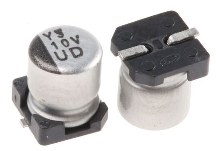 Nichicon 10μF Electrolytic Capacitor 35V dc, Surface Mount - UUD1V100MCL1GS (10)