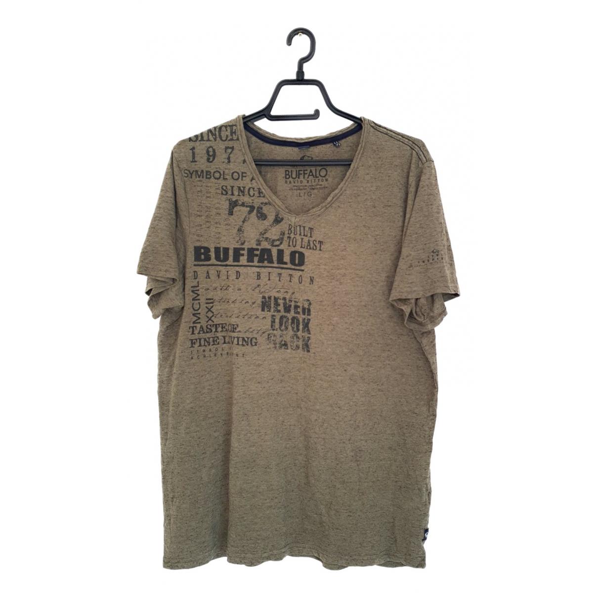 Buffalo - Tee shirts   pour homme en coton - vert