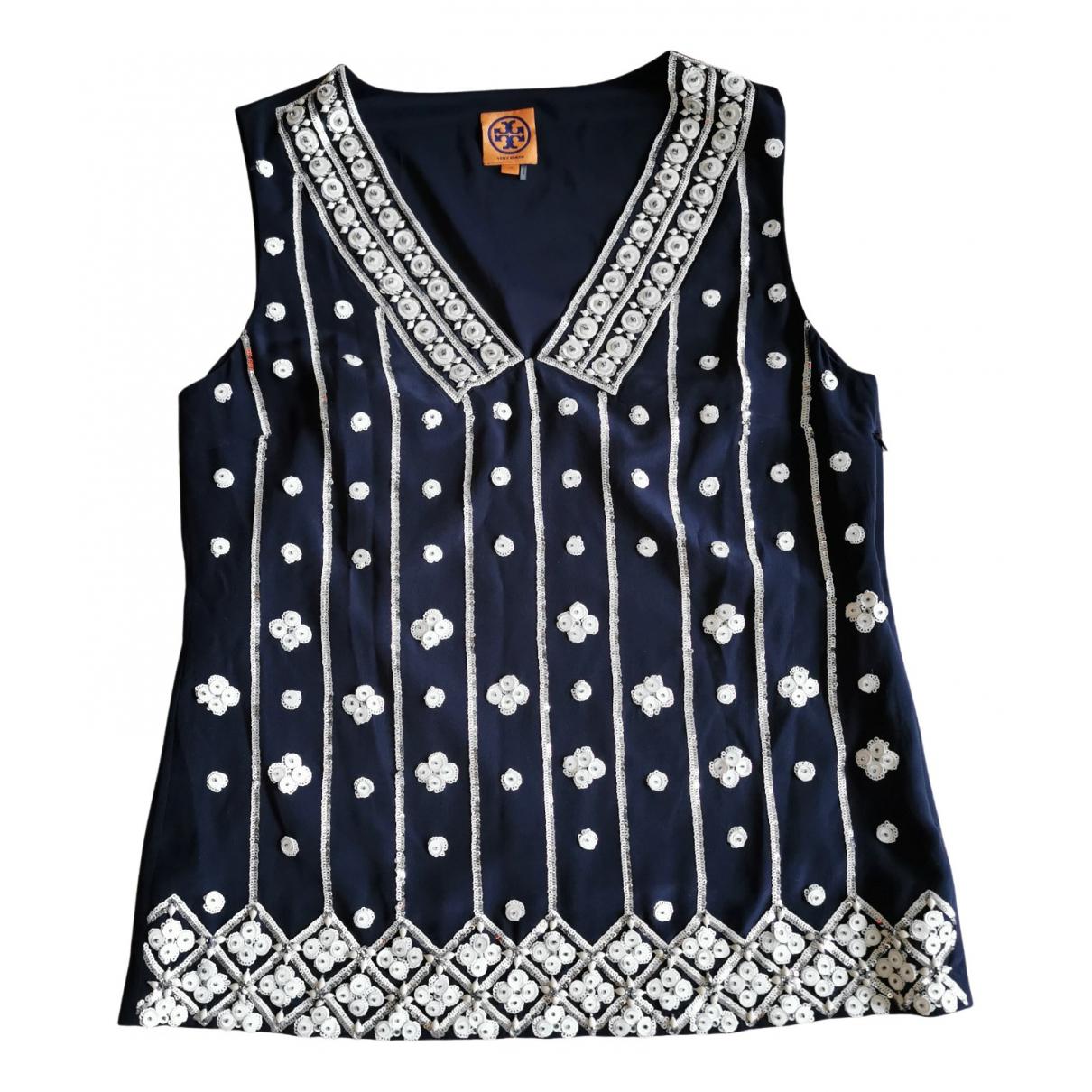 Tory Burch \N Blue Silk  top for Women 10 UK