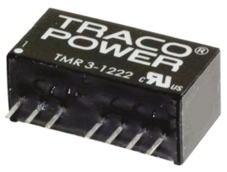 TRACOPOWER TMR 3HI 3W Isolated DC-DC Converter Through Hole, Voltage in 9 → 18 V dc, Voltage out ±15V dc