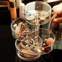 1pc 4 Layer Clear Jewelry Storage Box